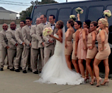 Wedding Party Bus Transportation in Newport Beach, CA